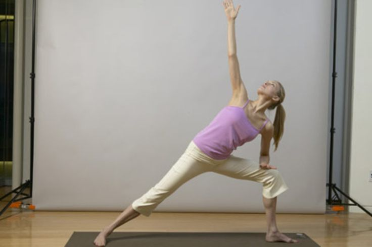 yoga for back pain relief - extended side angle pose