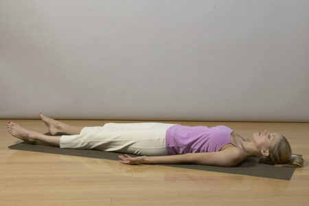 yoga for back pain relief - corpse pose