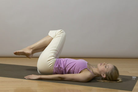 yoga for back pain relief - reclined twist