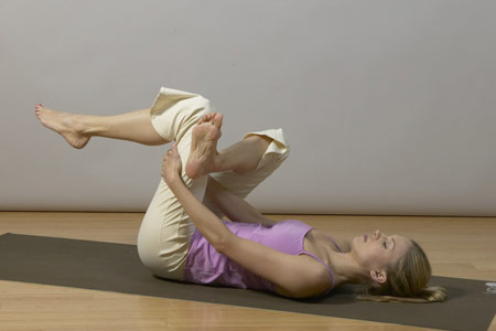 yoga for back pain relief - thread the needle